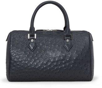 Brooks Brothers Ostrich Barrel Bag