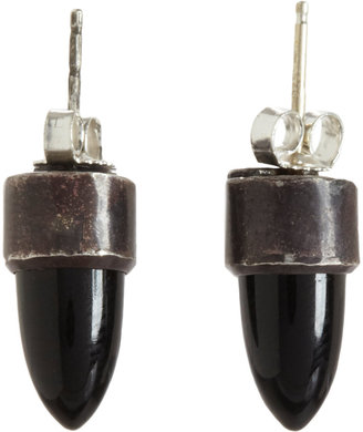 Aesa Onyx Spire Stud Earrings