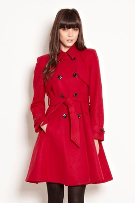 Warehouse Fit and flare coat
