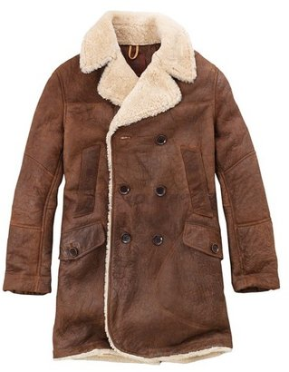 Timberland Men's Earthkeepers Long Shearling Jacket Style 2857j