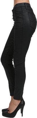 AG Jeans Moto Zipper Legging in Black Slick