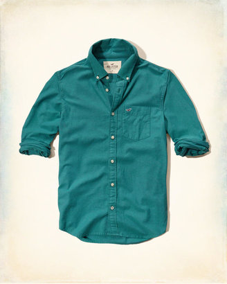 Hollister Solid Oxford Shirt