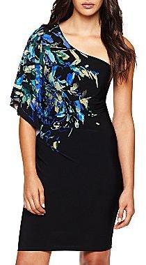 JCPenney Bisou Bisou® One-Shoulder Print Dress