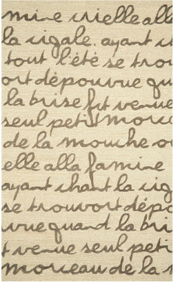 "Liora Manné Area Rug, Indoor/Outdoor Promenade 2049/19 Poem Brown 5'X7'6"""