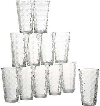 Crate & Barrel Domino Glass Tumblers Set of 12