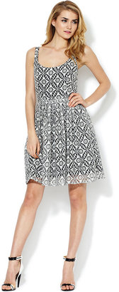 Corey Lynn Calter Tory Lace Flared Dress
