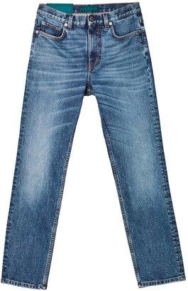 Self Cinema Slim Straight Jean Mid Blue Vintage