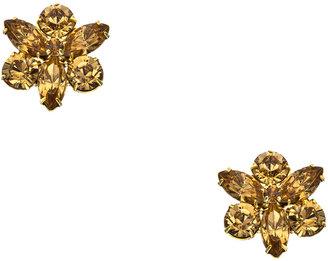 Roberta Chiarella Gold and Light Topaz Crystal Cluster Earrings