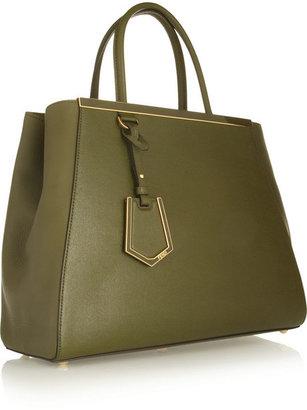 Fendi 2Jours textured-leather shopper