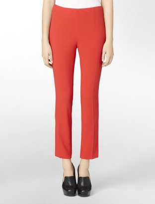 Calvin Klein Textured Crepe Cropped Pants