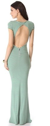 Alice + Olivia Orli Open Back Maxi