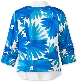 Coldwater Creek Bold printed floral jacket