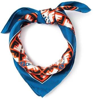 Fendi geometric logo print scarf
