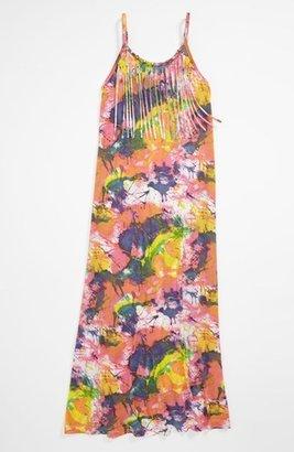 Flowers by Zoe 'Splatter' Fringe Dress (Little Girls) Multi Silver 4