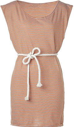 American Vintage Rust/White Belted Summer Dress