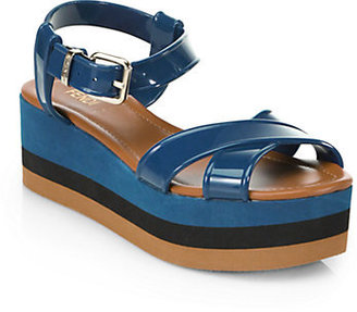 Fendi Hydra PVC Platform Sandals