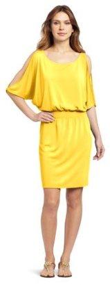 Echo Women's Solid Open Shoulder Dress
