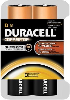 Duracell Coppertop D Batteries, 8 ct