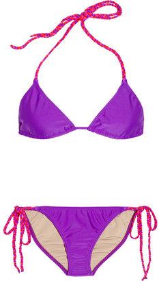 Tara Matthews Lavezzi braid-trimmed triangle bikini
