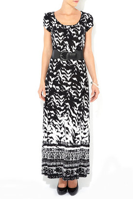 Wallis Black and White Belted Maxi Dress