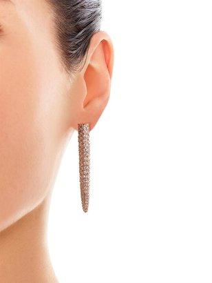 Eddie Borgo Long spike crystal embellished earrings