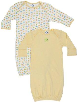 Gerber 2-Pk Lap Shoulder Gown Neu - Multicolor-0-6 Months