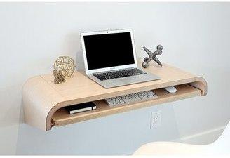 "Orange22Modern Minimal Floating Desk Size: 10"" H x 51"" W x 16"" D, Color: Rift Oak"