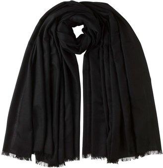 Johnstons of Elgin Black Tissue Cashmere Blanket Scarf