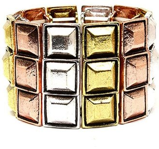 Style Tryst Tri Color Geo Bracelet