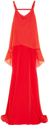 Vionnet Layered silk and silk-chiffon gown