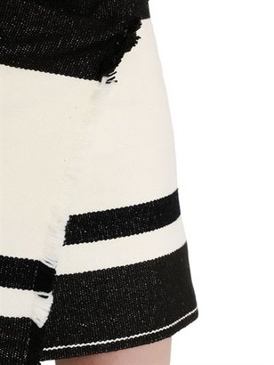Isabel Marant Striped Wool Blend Blanket Skirt