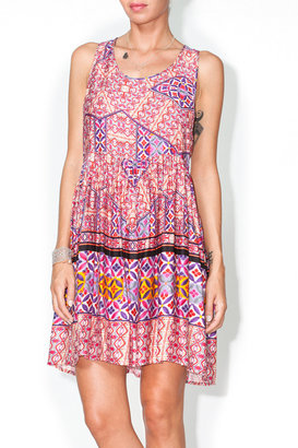 MinkPink Paia Tank Print Dress