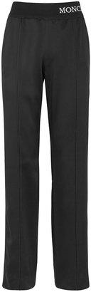 Moncler Black Satin Sweatpants