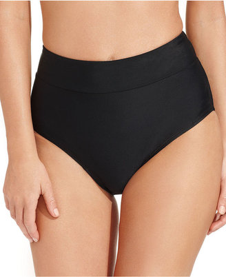 Real Solutions by Island Escape Swimsuit, Solid High-Waist Tummy-Control Brief Bottom