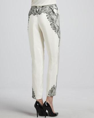 Haute Hippie Printed Slim Slouchy Drawstring Pants