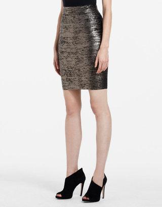 BCBGMAXAZRIA Foil-Print Power Skirt