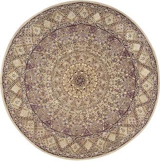 Nourison Round Area Rug, Wool & Silk 2000 2117 Lavender 6'
