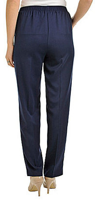 Allison Daley Faux-Fly Straight-Leg Pull-On Pants