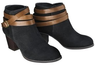 Mossimo Women's Kiriana Ankle Boot with Strap - Black
