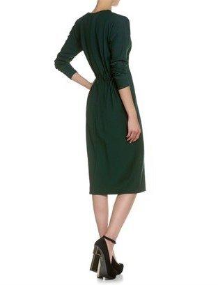 David Szeto Bottle Green Juliette Dress