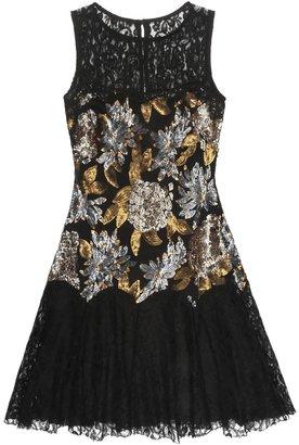 Nicole Miller Floral Sequin Dress