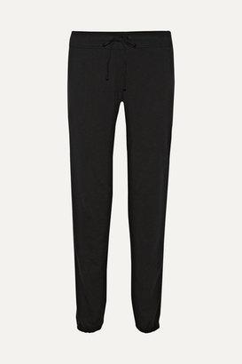 James Perse Genie Supima Cotton-terry Track Pants - Black