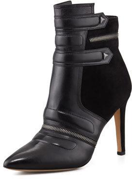 Sam Edelman Margo Suede & Leather Bootie, Black