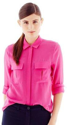 Joe Fresh 100% Silk Cargo-Pocket Shirt