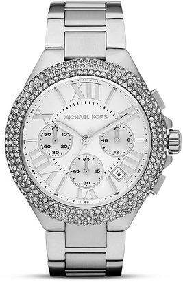 Michael Kors Silver Tone Bella Glitz Watch, 43mm