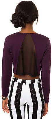 *MKL Collective The Run Ragged Top in Wine and Black