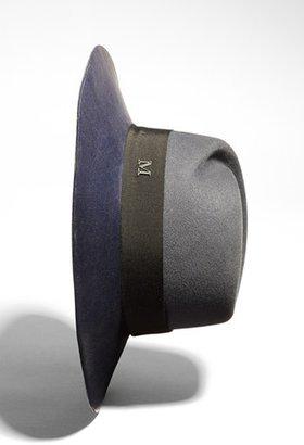 Maison Michel 'Virginie' Leather Brim Trilby Hat