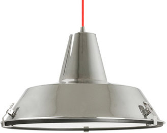 Bed Bath & Beyond Leitmotiv Dock Pendant Lamp - Chrome with Red Cable