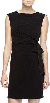 Chetta B Side-Tie Sheath Dress, Black