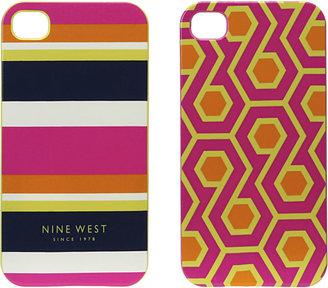 Nine West BRIGHT STRIPE iPHONE 4 CASE SET